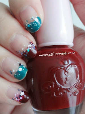 Christmas nails using Etude House and Innisfree nail polishes