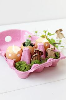gusci delle uova per creare candele