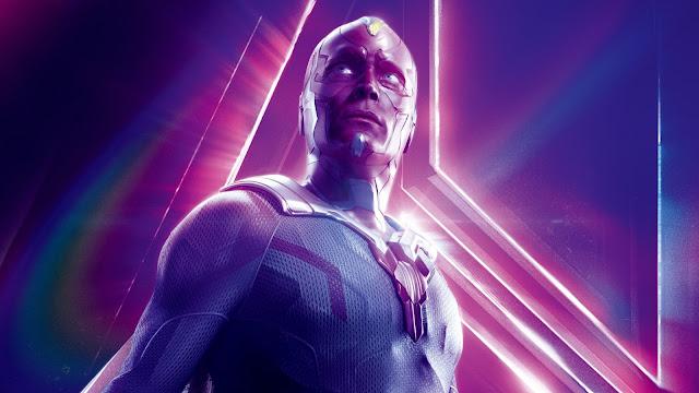 Papel de parede Vingadores: Guerra Infinita Vision  Paul Bettany para PC, Notebook, iPhone, Android e Tablet.