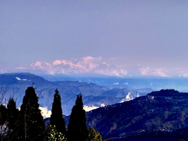 view of Kanchenjunga from Batasia Loop in Darjeeling