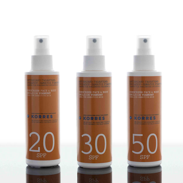 Korres, Sunscreen Face & Body Emulsion Youghurt