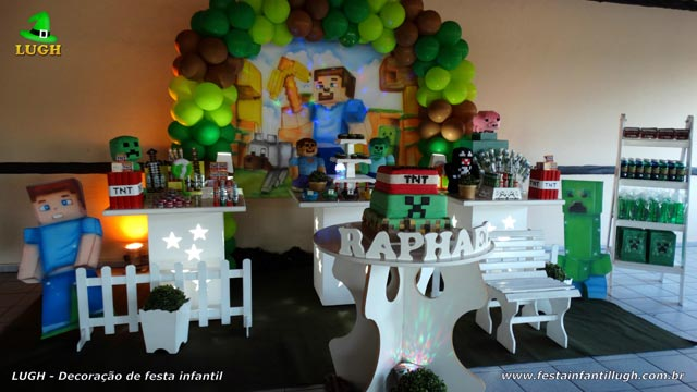 Decoração infantil Minecraft para festa de aniversário - Provençal simples