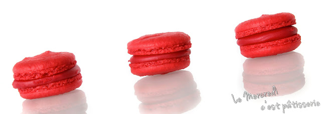 Macarons à l'arome framboise