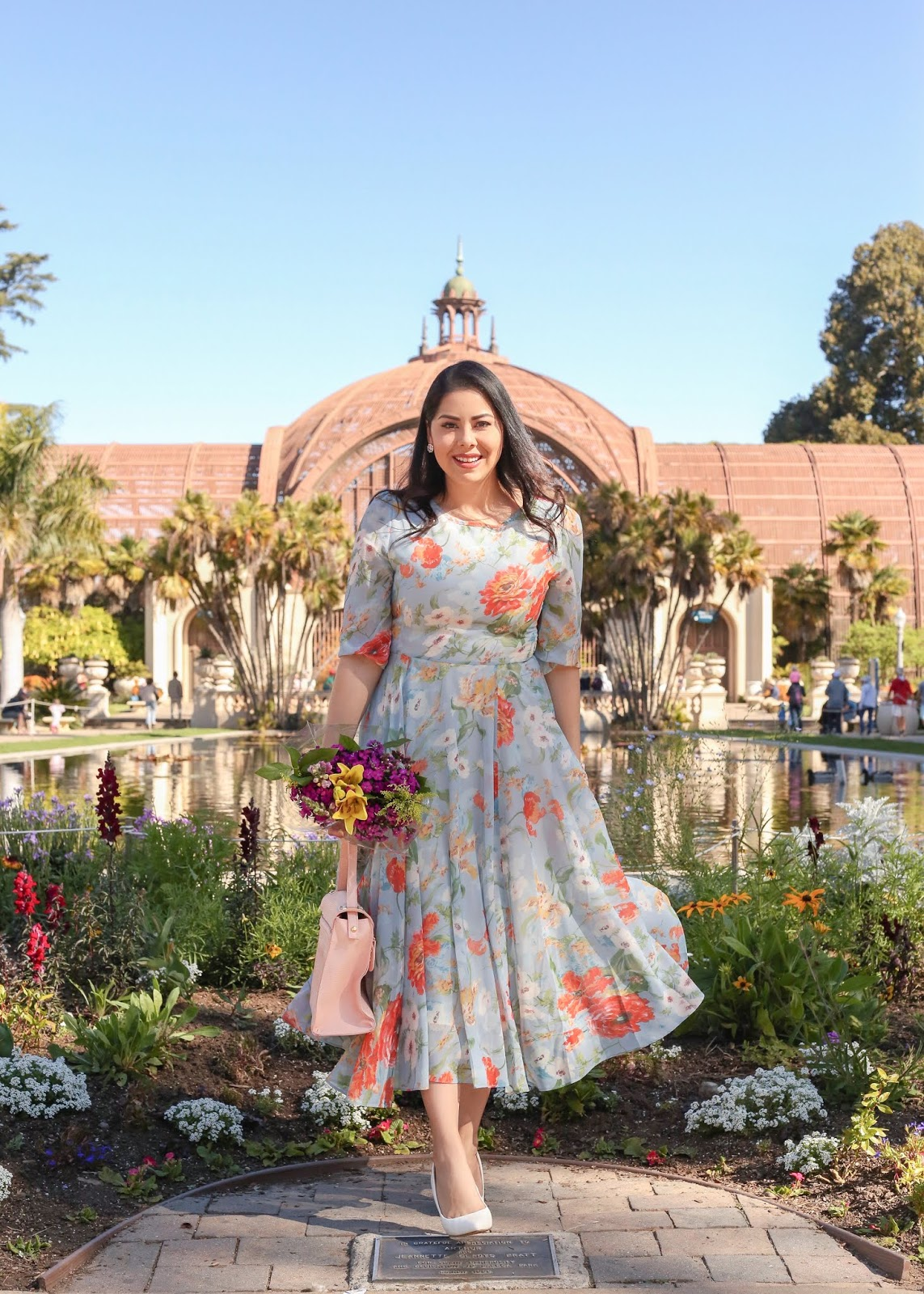 chicwish midi floral dress, how to wear a floral dress