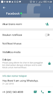 Profil Facebook di Whatsapp