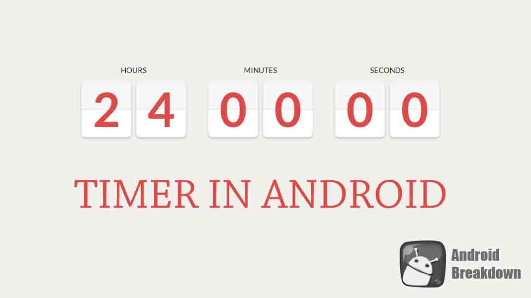 how to show timer in android how to set start time in chronometer in android