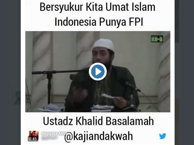 Bersyukur kita punya FPI, Ustadz Khalid Basalamah: FPI Membuat Umat Islam Punya 'Izzah Dihadapan Pemerintah