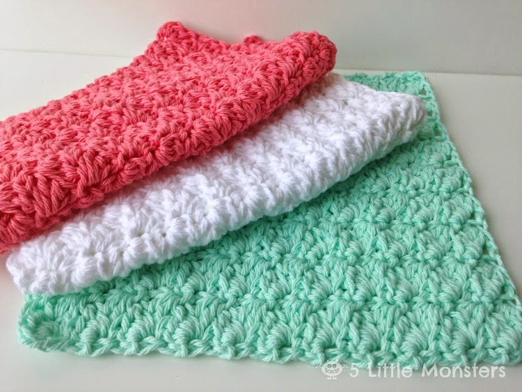 5 Little Monsters: My Favorite Dishcloths: Sedge Stitch Dishcloth