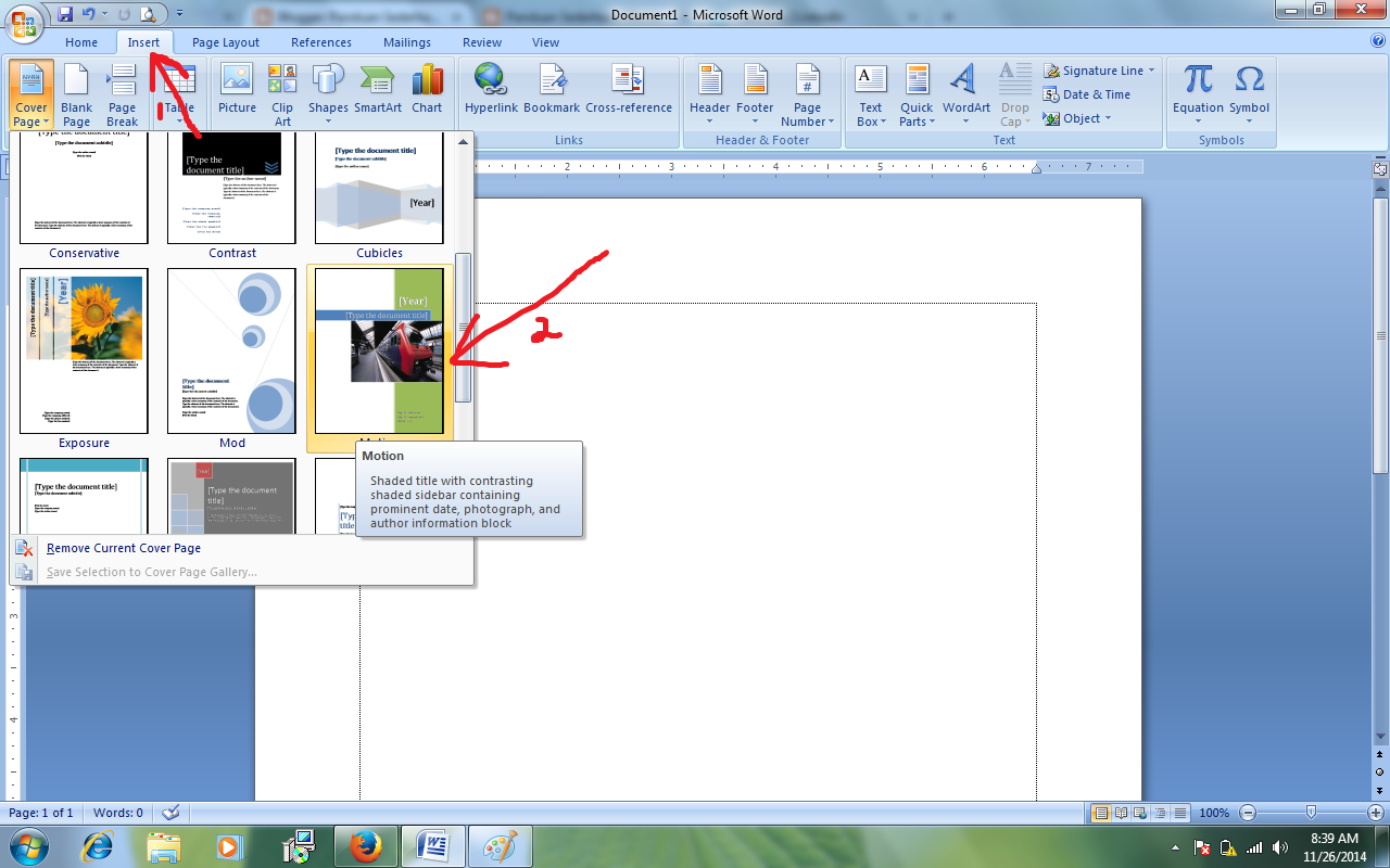panduan sederhana microsoft office cara memasang cover page dan hasil akhirnya akan seperti pada gambar dibawah ini lihat gambar