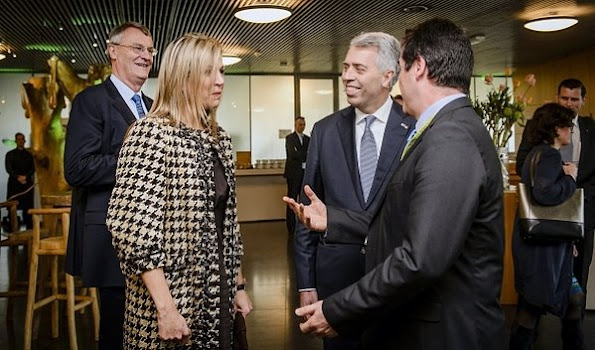 Queen Máxima of The Netherlands attends the annual meeting of the Global Alliance for Banking Values (GABV) hosted by Triodos Bank in Zeist, Utrecht, The Netherlands