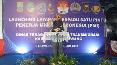 Disnakertrans Karawang Launcing LTSP  Pekerja Migran Indonesia