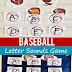 Baseball Letter Sounds Game for Pre-K & Kindergarten