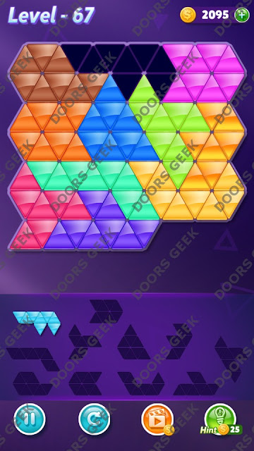 Block! Triangle Puzzle Challenger Level 67 Solution, Cheats, Walkthrough for Android, iPhone, iPad and iPod