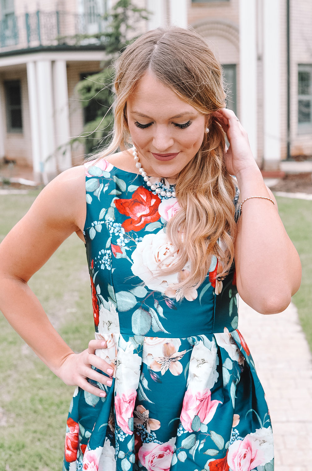 Amanda Martin wearing Rome Designer Jewelry Pearls