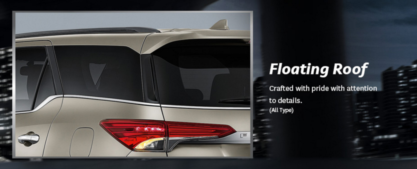 floating roof all-new-fortuner