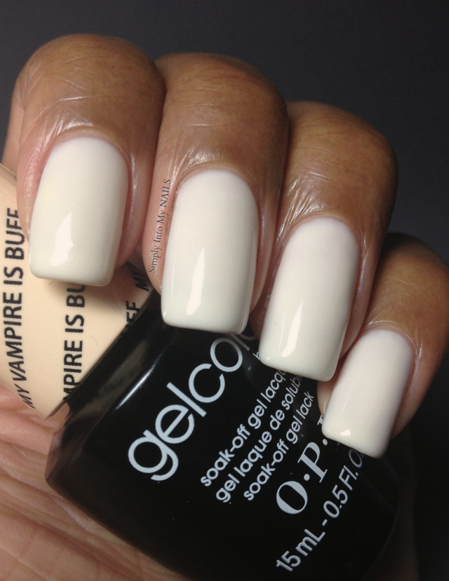 Opi White Gel Nail Polish: OPI Gelcolor - My Vampire Is Buff