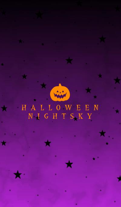 HALLOWEEN NIGHT SKY -PURPLE-