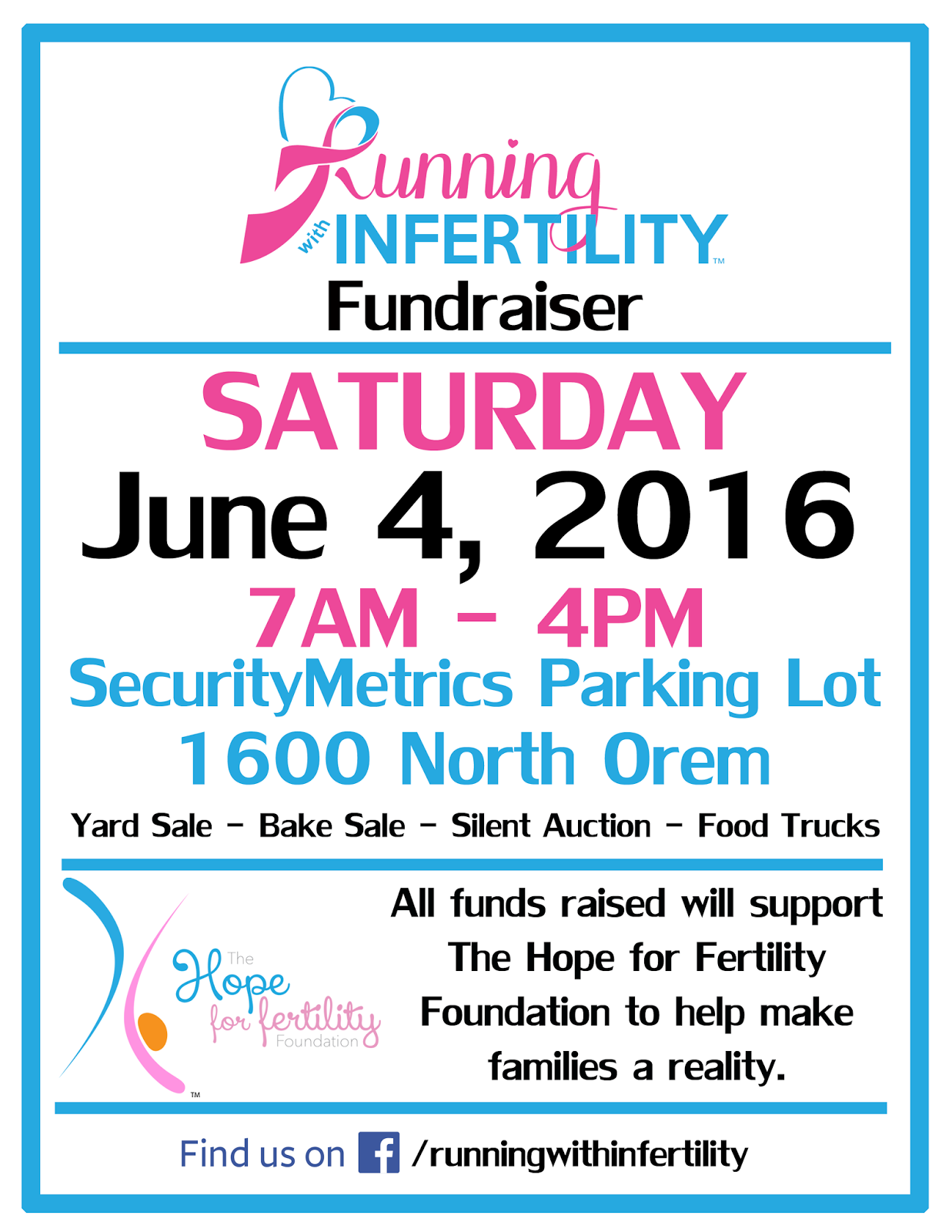 yard sale, bake sale and character meet and greet for our fertility fundraiser