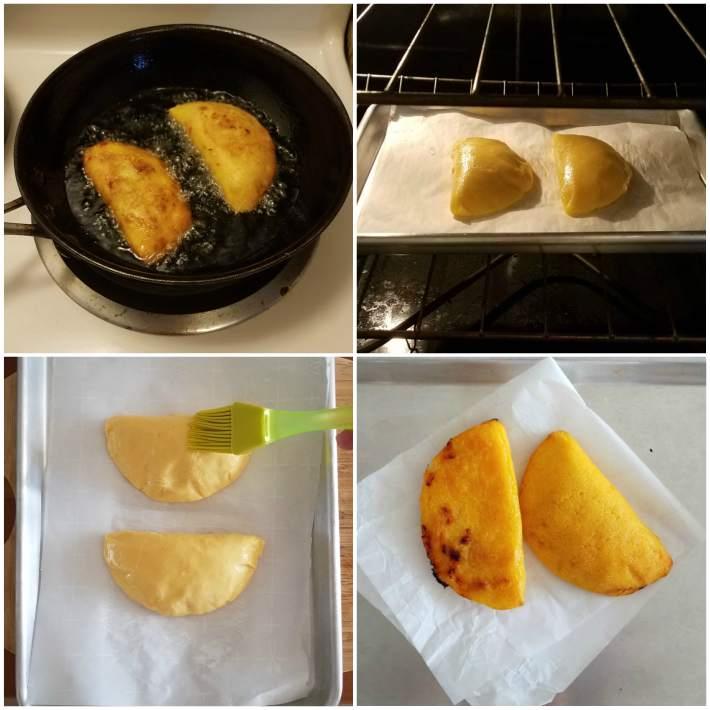 Métodos de cocción de las empanadas: fritas y al horno
