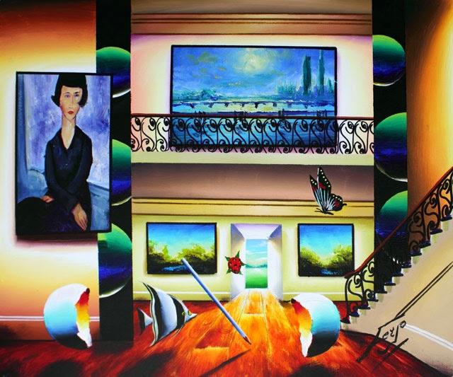 Sala das Delícias - Ferjo e suas pinturas ~ O artista da pintura dentro de outra