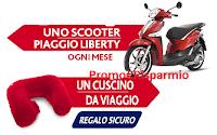 Logo Parodontax ti regala come premio sicuro il cuscino da viaggio in microfibra e vinci 1 Scooter Piaggio