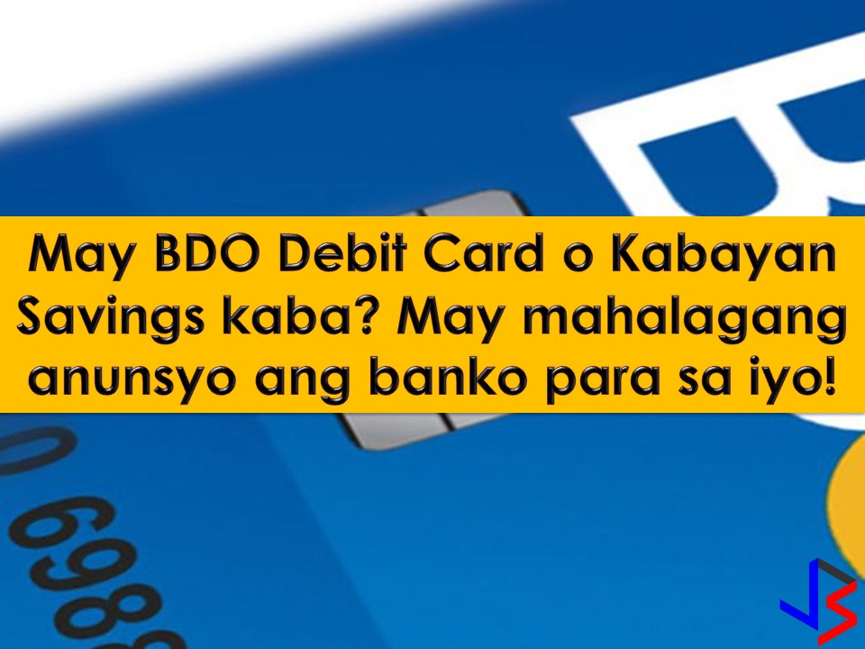 Banks in the Philippines has already started deactivating ATM and debit cards equipped with magnetic-strip technology. One, for example, is the BDO Unibank that deactivates their ATM and debit cards with magnetic-strip last January 31. So for ATM user out there, make sure your card is already equipped with EMV technology.   According to BSP Deputy Governor Chuchi Fonacier, June 30 deadline given to banks to fully comply with the shift to EMV technology is already enough and extension is not possible.   If you have questions about EMV, maybe it can be answered bellow with this 17 common question about the new technology.The texts are taken from BDO website and are being translated into Filipino for much easier understanding.