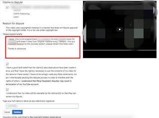 Cara Mengatasi Claim Copyright Pada Video atau Audio di Youtube Via Dispute