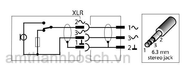 Micrô cầm tay một hướng LBC 2900/xx