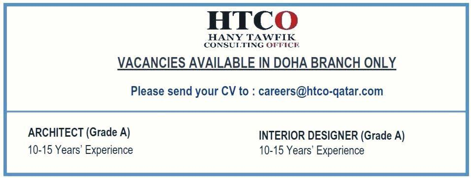 JOB vacancy in Doha Qatar