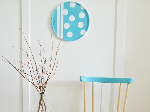 Pretty Aqua Beechwood Color Blocked Chairs