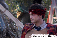 First photos of Daniel Radcliffe on the set of Swiss Army Man