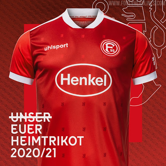 Fortuna Dusseldorf 20 21 Home Kit Released Co Designed By Fans Footy Headlines