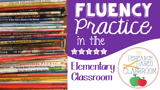 How do you get your upper elementary kids to reread for fluency practice?  Ideas that students love to do from The Research Based Classroom