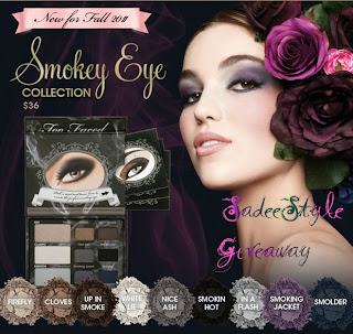 Giveaway of Too Faced Smoky Eye Palette Sponsored by Brigette Boutique