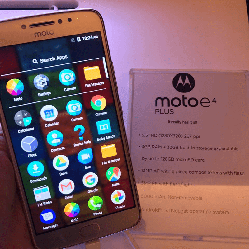 Moto E4 Plus With 5000 mAh Of Battery Now In PH Too, Priced At PHP 8999!