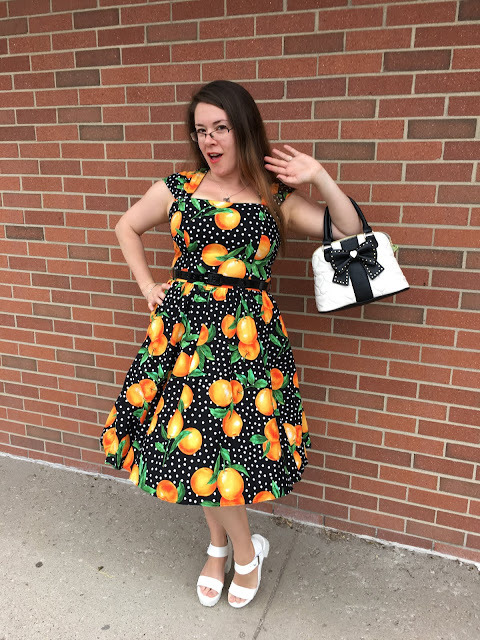 Bernie Dexter Veronique oranges dress