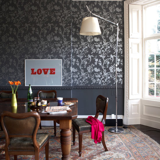 New home interior design take a tour of a vibrant scottish home for Decorating ideas for living room with dado rail