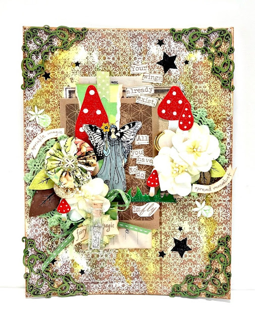 Fairy Magic Mixed Media Canvas by Dana Tatar for Paper Wings Productions