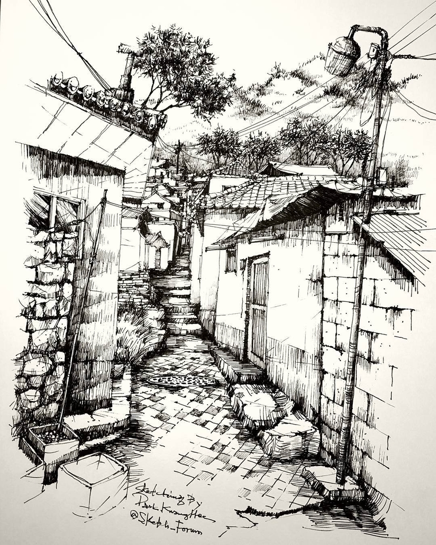 13-Park-Kwang-Hee-Architectural-Sketches-Interior-Exterior-Old-and-New-www-designstack-co