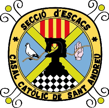 Escudo de la sección de ajedrez del C.C. Sant Andreu