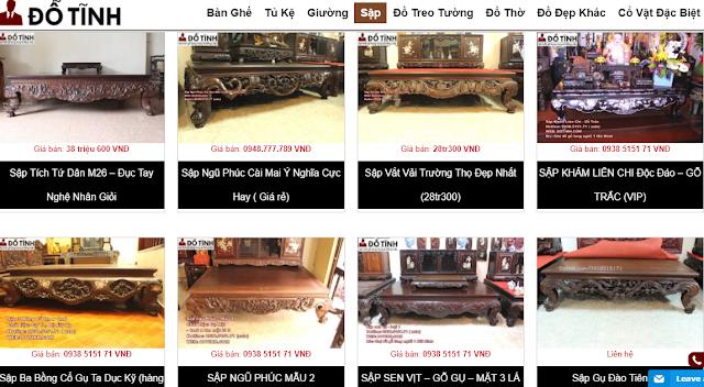 Mua sập gụ tủ chè tại Thái Bình hình thức Online