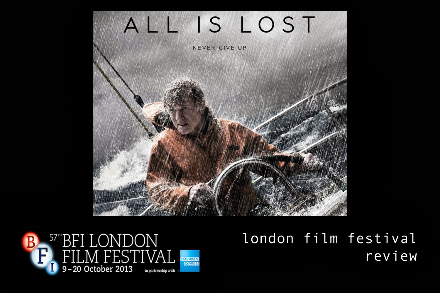 (A)musings: LONDON FILM FESTIVAL REVIEW - ALL IS LOST