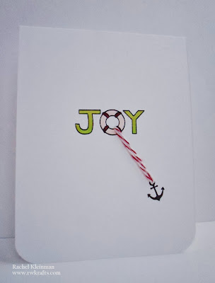 Joy card by Rachel Kleinman for Newton's Nook Designs using SEAson's Greetings