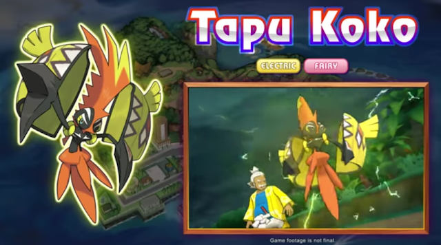 Pokémon Sun Moon Hala Tapu Koko Electric Fairy Land Spirit Alola