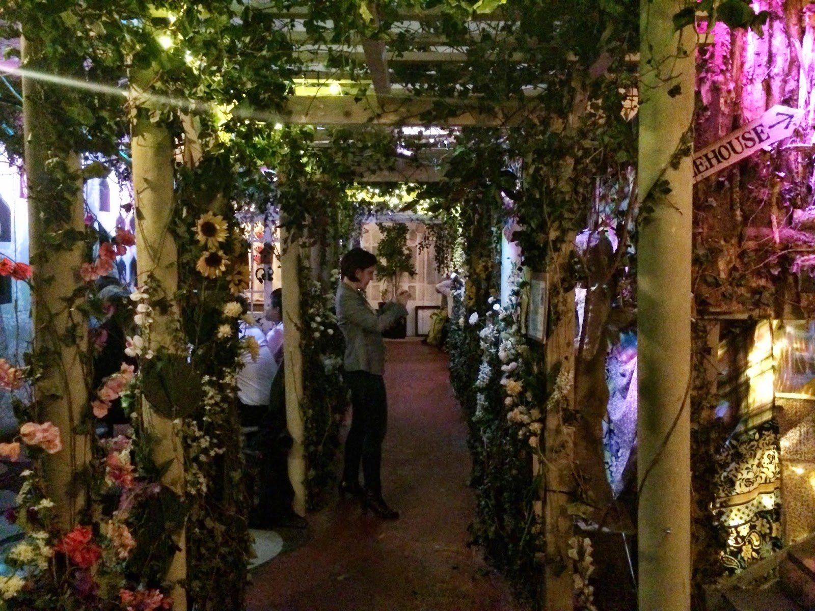 The main floral walkway through the Lost Gardens Of Gingerline