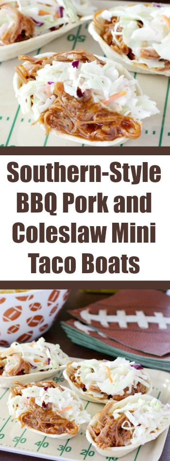 This Southern Style Bbq Pork And Coleslaw Mini Taco Boats Recipe Is Perfect For Game