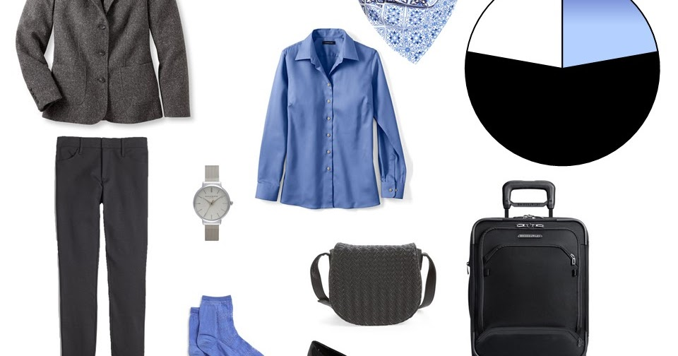 A Winter Travel Capsule Wardrobe In Black Blue And White