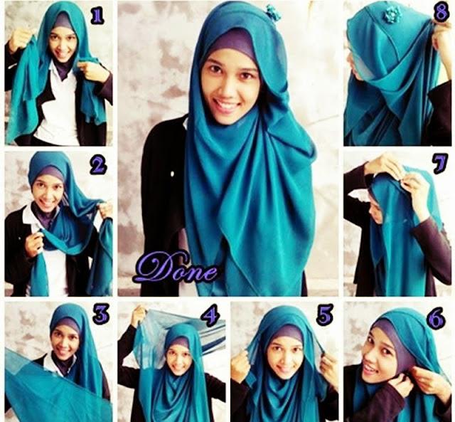 Cara Menggunakan Hijab Pasmina Modern
