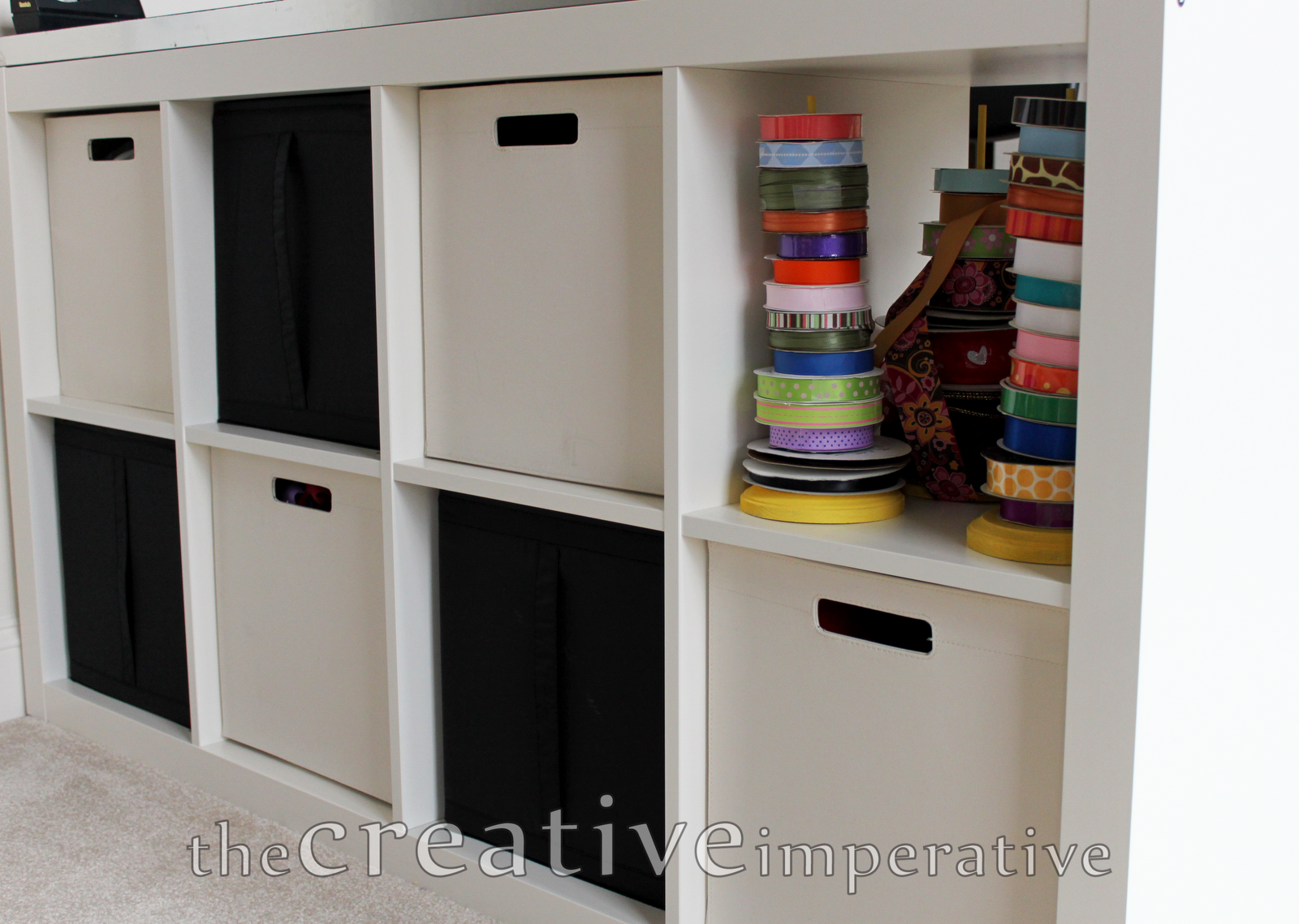 Craft Room Desk: The Creative Imperative: Craft Room Desk With Shelves