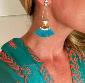 Stella & Dot Lotus Earrings